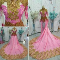 gaun baju pengantin wanita semi kebaya modern