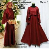 cape gamis maxy dress longdress baju pesta muslim branded mewah maxi