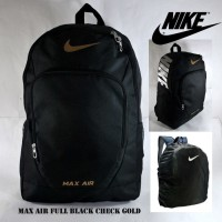 TAS RANSEL NIKE MAX AIR COURT TECH FULL HITAM GOLD