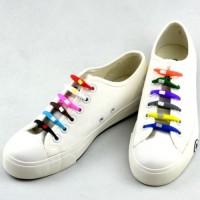 Jual tali sepatu silicone silikon shoelace karet V-tie V tie Vtie elastic e Murah