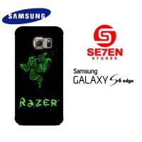 Casing Samsung S6 Edge razer black Custom Hardcase