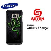 Casing Samsung S7 Edge razer motif 2 Custom Hardcase