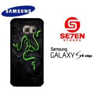 Casing Samsung S6 Edge razer motif 2 Custom Hardcase
