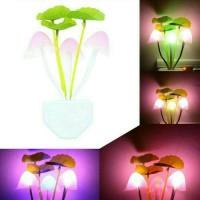 Lampu Warna Meja Kamar Tidur LED Jamur Mini Hias Murah