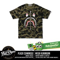 [AUTHENTIC] A Bathing Ape 1st Shark Camo Tee Green [SIZE LARGE]