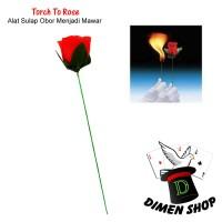 Torch To Rose | Alat Sulap | Obor Jadi Bunga | Bunga Api |Dimen Shop