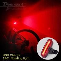 Deemount Lampu Sepeda LED Taillight 100 Lumens - Merah Putih
