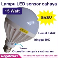 Jual Lampu LED sensor cahaya 15W bohlam otomatis Murah