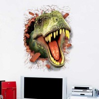 Sticker Wallpaper Dinding Dinosaurus. - HIJAU