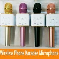 Jual Mic Karaoke Smule Bluetooth Microphone Portable Wireless Karaoke Q7 Murah