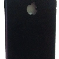 IPHONE 5 MATTE BLACK CAMERA PROTECTIVE CASE WITH FINE APPLE LOGO CUT