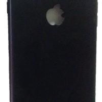 IPHONE 7 PLUS MATTE BLACK CAMERA PROTECTIVE CASE WITH APPLE LOGO CUT