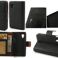 LG Optimus L4 II - Agenda Standing Leather Book Flip Cover Sarung Hp