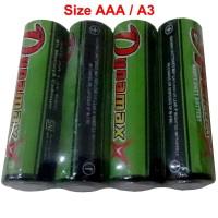 baterai merk dynamax ukuran size AAA battery A3 batre, batery 1.5V