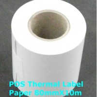 harga Pos Thermal Label Paper 80mmx10m Continuous Buat Cashier Printer Tokopedia.com