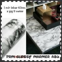Jual sticker dinding dapur marmer abu contact paper waterproof anti minyak Murah