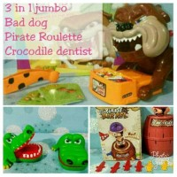 Jual Paket 3 in 1 jumbo (bad dog game , pirate roulette , crocodile dentist Murah