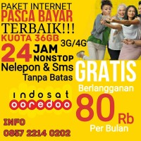 Paket Perdana Internet 36 3G/4G Gratis Nelepon SMS 24 Jam Unlimited