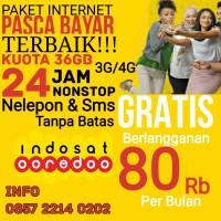 Paket Internet Indosat 36 3G/4G Gratis Nelepon SMS 24 Jam Unlimited