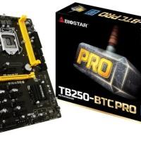READY STOK BIOSTAR TB250 BTC PRO 12 VGA -MINING 12 SLOT VGA