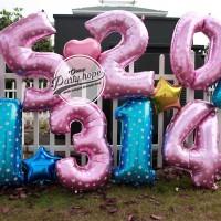 balon foil angka ukuran 100 cm / balon foil angka jumbo / balon foil