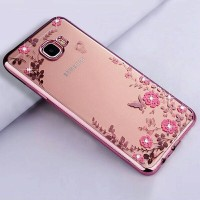 Silicone case flower Samsung galaxy C7 softcase