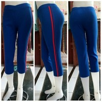 Celana Senam 3/4 Warna List | Olahraga | Gym | Fitnes | Dimen Shop