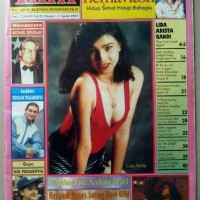 Majalah Film Lama no.229 Maret 1995 - Cover Lida. Profil Nike Ardilla