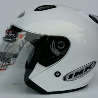 Jual SALE HELM INK CENTRO JET SOLID WHITE 100% ORIGINAL Murah