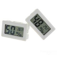 Jual Thermometer Hygrometer Mini LCD Digital  - White Murah