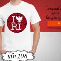 kaos explore indonesia distro dirgahayu t shirt i love RI 108