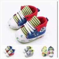 PW STAR GARIS TEKUK sepatu anak bayi laki cowok prewalker shoes baby