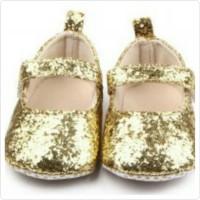 PW75 - BALET GOLD BLING sepatu anak bayi baby prewalker shoes cewek