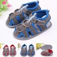 PW76 - SEPATU SANDAL TALI MERAH BIRU anak bayi laki prewalker shoes