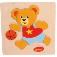 Jual Mainan Edukasi Jigsaw Puzzle Kayu Bear (A) Mainan Edukatif Anak Murah