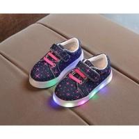 Jual Sepatu Kets Anak  SZ 21-30 JEANS SHOES STAR LED SHOES! SEPATU LAMPU Murah