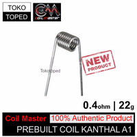 D25 Authentic Coil Master Pre-built Kanthal A1 0.4 ohm | 22 awg toko
