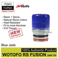 F133 Authentic Wotofo RS Fusion 510 Drip Tip | 7 | driptip resin rda