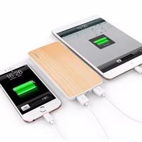 Jual NEW Powerbank Vivan W8 (8000mAh) Cherrywood 2 USB Ports Original  -BMI Murah