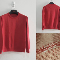 UNIQLO Mens Sweatshirt Cotton RED ( CUT LABEL ) 100% Original