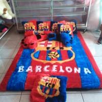 Jual Fullset Karpet Karakter Bulu Rasfur Motif Barcelona Murah