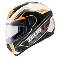 zeus 811 white black orange putih hitam orange helm fullface AL5 z811