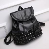 Jual Tas Ransel Serut Studded Black Import DSB10172 Murah
