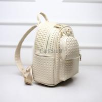 Jual Tas Ransel Backpack Studded Cantik Rice White Import DSB10181 Murah