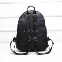 Jual Tas Ransel Backpack Black Studded Floral Cantik DSB10175 Murah