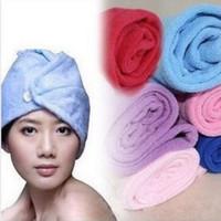 Magic towel microfiber Handuk kepala untuk habis keramas murah BHR018