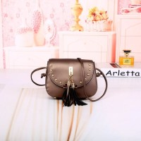 Tas Mini Bag Coklat Satchel Pesta Wanita Modis Selempang