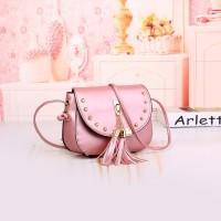 Tas Rumbai Selempang Wanita Sandang Pink Cantik Pesta Shoulder Bag