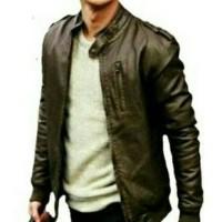 Jual jaket pria semi kulit/jaket motor/jaket harian Murah