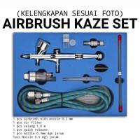 Airbrush Kaze set nozzle 02, 03 dan 05